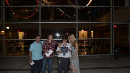 From left, Chris Shakespeare, 47, Matthew Shakespeare, 16,