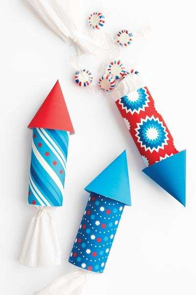 The July Fourth Rocket Favors craft can be