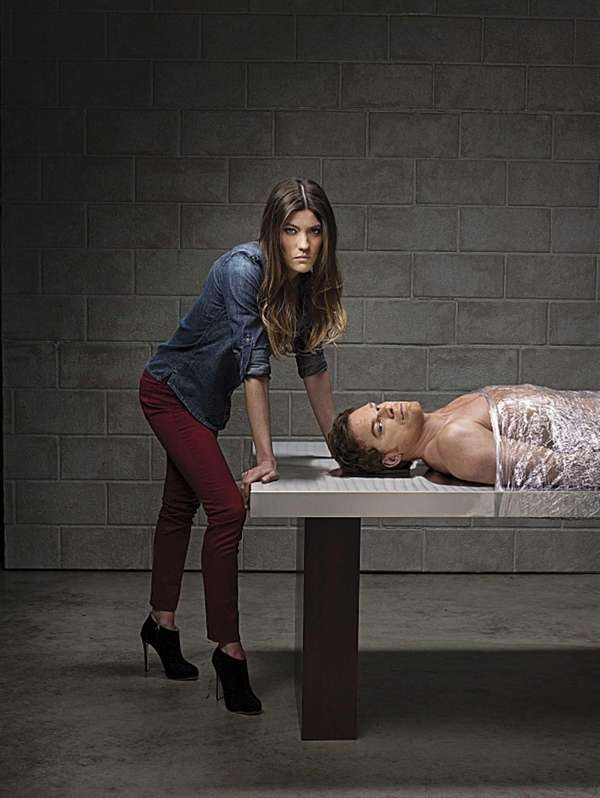 Jennifer Carpenter as Debra Morgan and Michael C.
