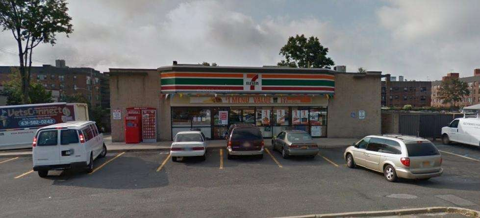 An exterior view of the 7-Eleven convenience store
