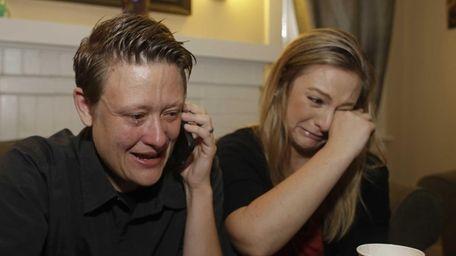 Same-sex couple Lisa Kirk, left, and Lena Brancatelli,