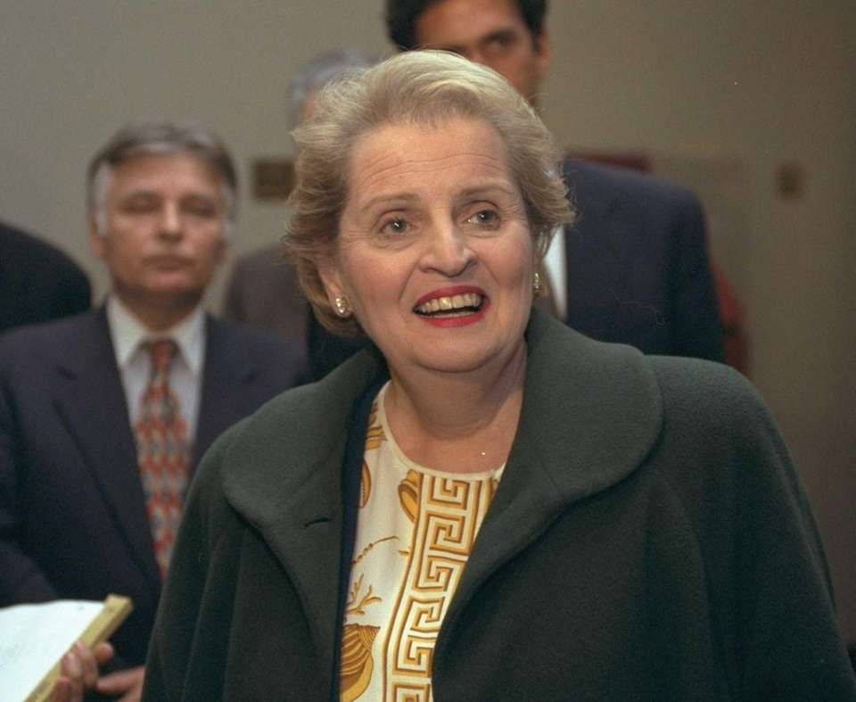 Madeleine Albright, the first woman to become Secretary