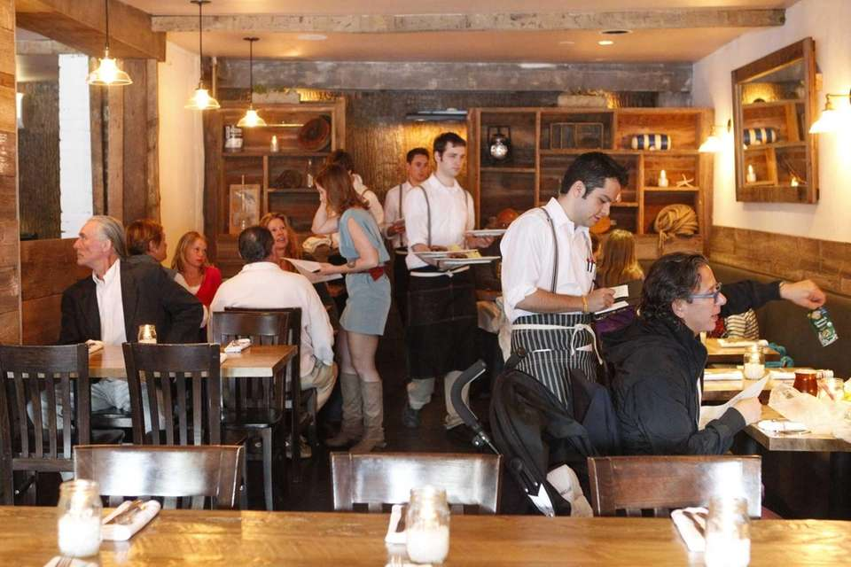 Patrons dine at The Cuddy in Sag Harbor.