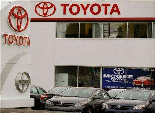 A Toyota automobile and light truck dealership in