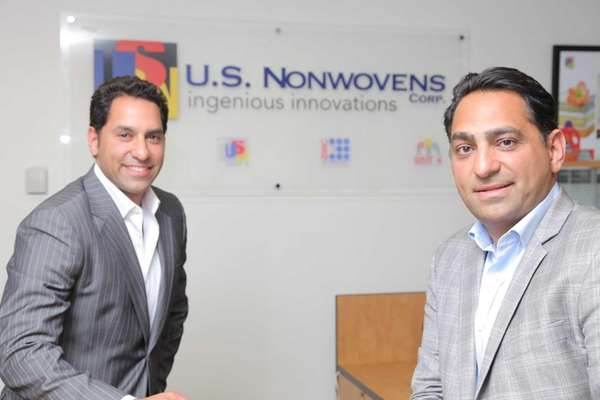 U.S. Nonwovens COO Rody Mehdizadeh, left, with the