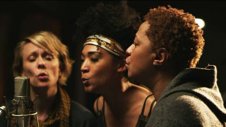 From left, Jo Lawry, Judith Hill and Lisa