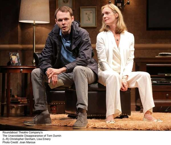Christopher Denham and Lisa Emery in the Roundabout
