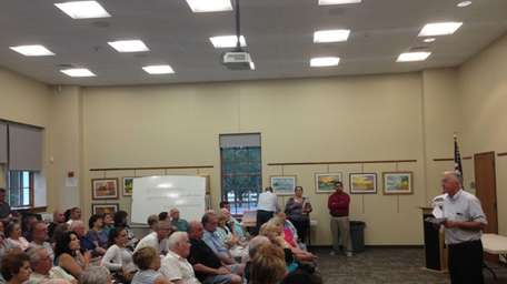 More than 100 residents gathered at the Nesconset