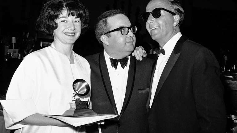 Allan Sherman, center, with wife Dee, and jazz