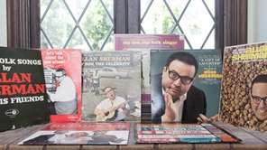 Mark Cohen's collection of Allan Sherman albums. (June