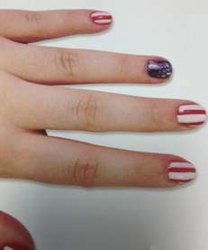 Fourth of July nail art from DIY Nail