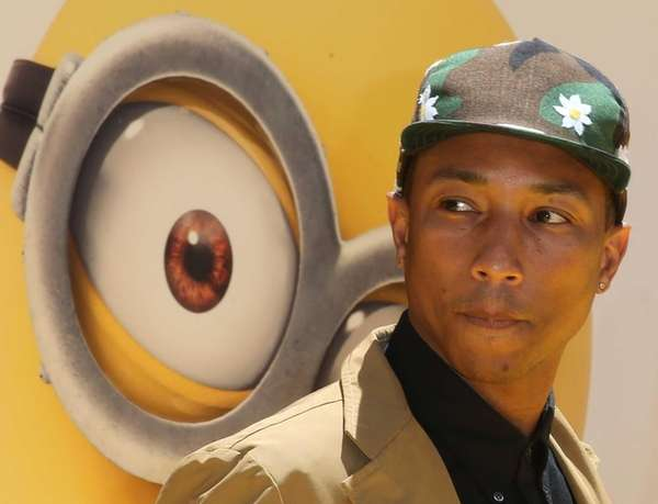 Pharrell Williams attends the premiere of Universal Pictures'