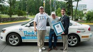 Wayne Gerdes, left, drove the Volkswagen Passat TDI