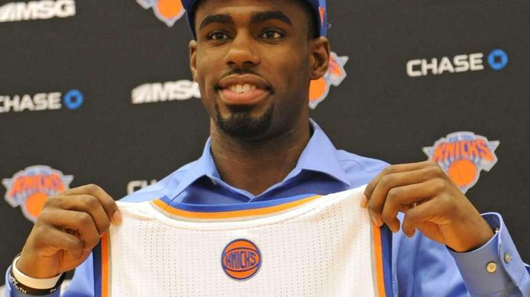 Knicks first round draft pick Tim Hardaway Jr.