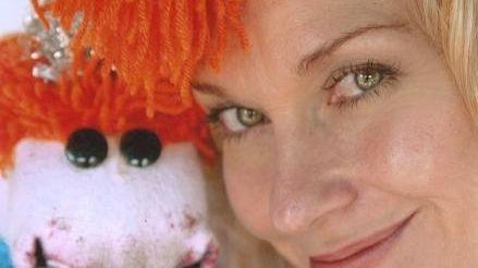 Puppet Lolly Lardpop and her human, Leslie Carrara-Rudolph,
