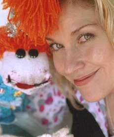Puppet Lolly Lardpop and her human, Leslie Carrara-Rudolph,