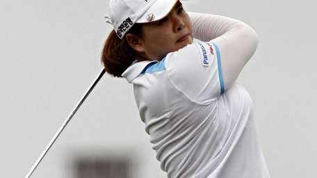 Inbee Park tees off on the third hole