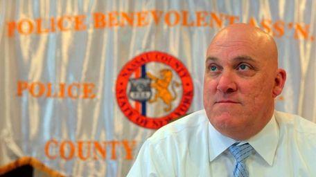 Nassau County PBA president James Carver. (April 30,