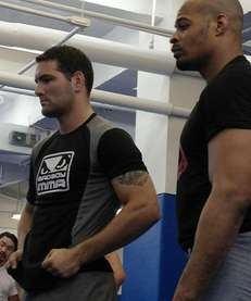 UFC fighters Chris Weidman, left, and David Branch