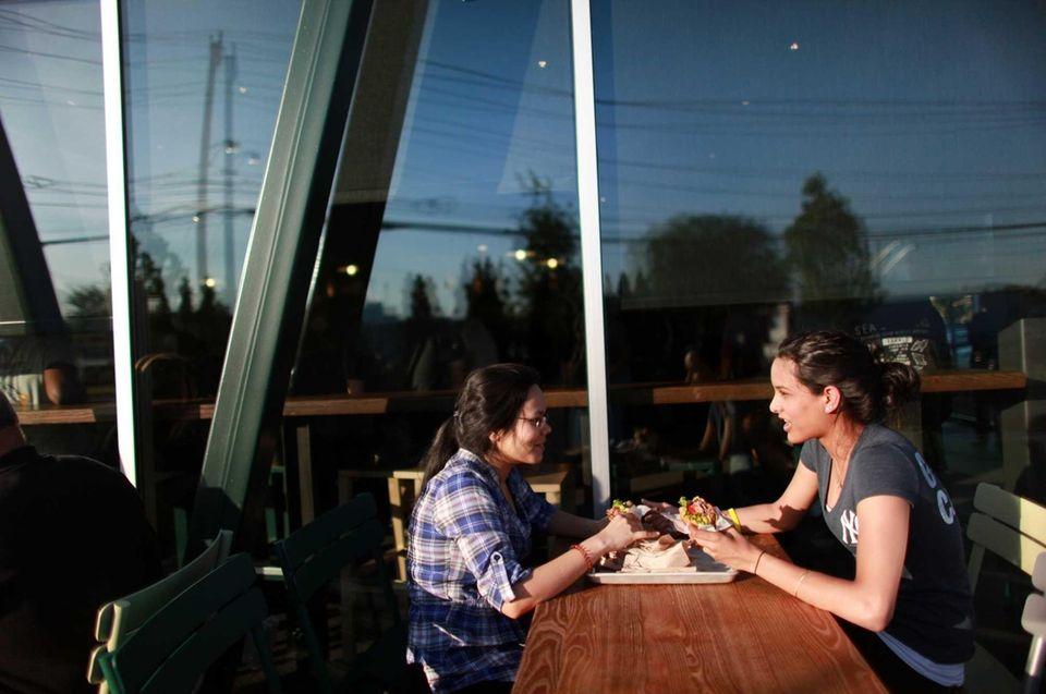 Shake Shack in Westbury offers outside dining. (June