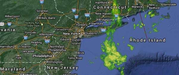 On Saturday, a few light showers will hang