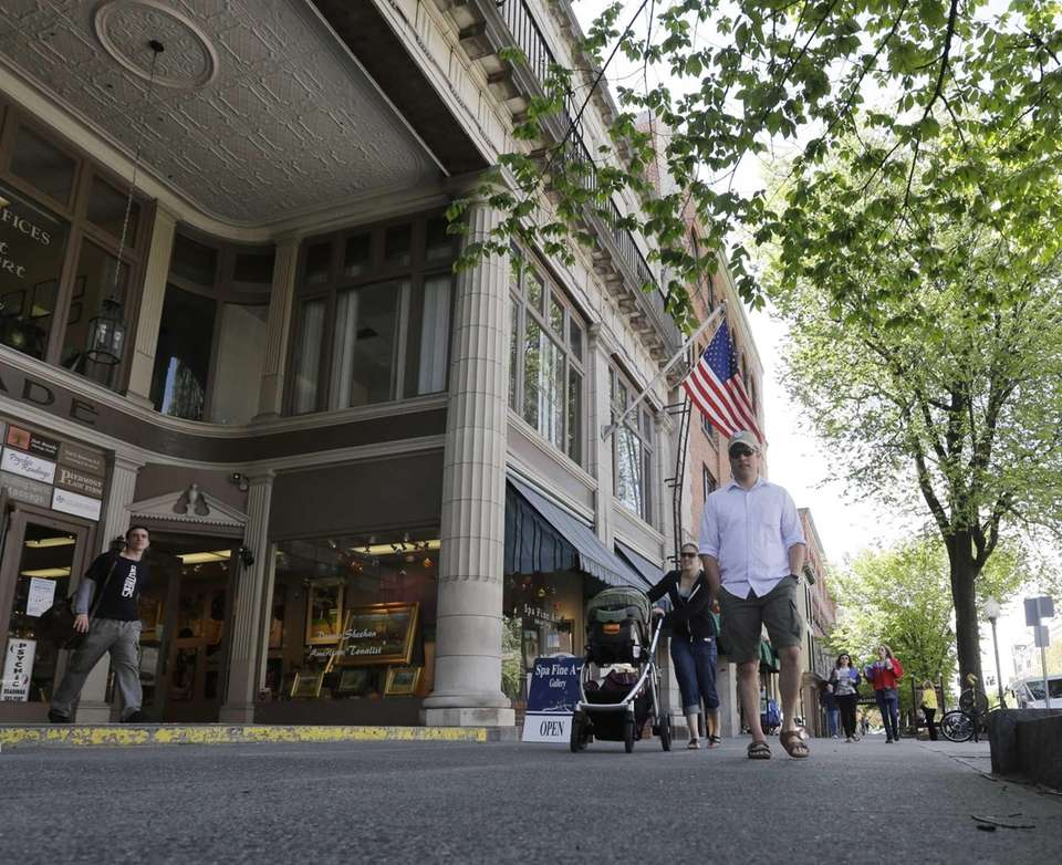 Broadway, Saratoga's main drag, is lined with Victorian