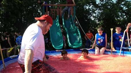 At the 27th annual Gello Slide, hosted by