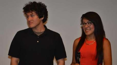 From left, Nassau BOCES film students Erick Urquilla,