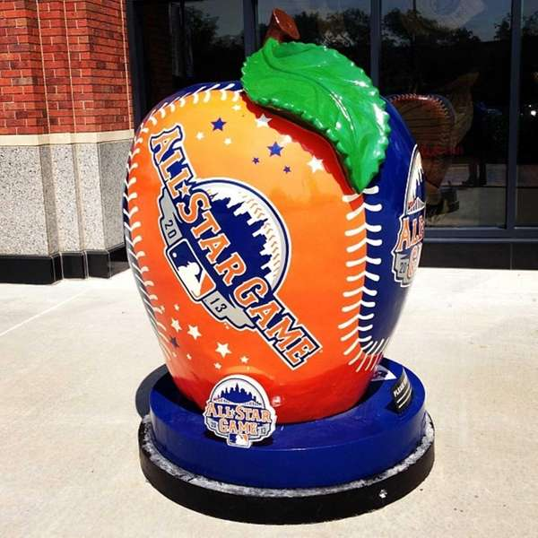 All-Star Game apple outside Citi Field. #ndallstar