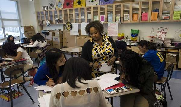 Roosevelt High School AP teacher Yolette Wright keeps