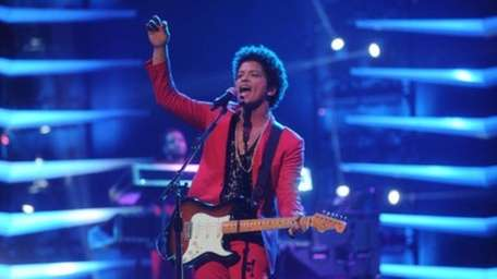 Bruno Mars performs at the Barclays Center as