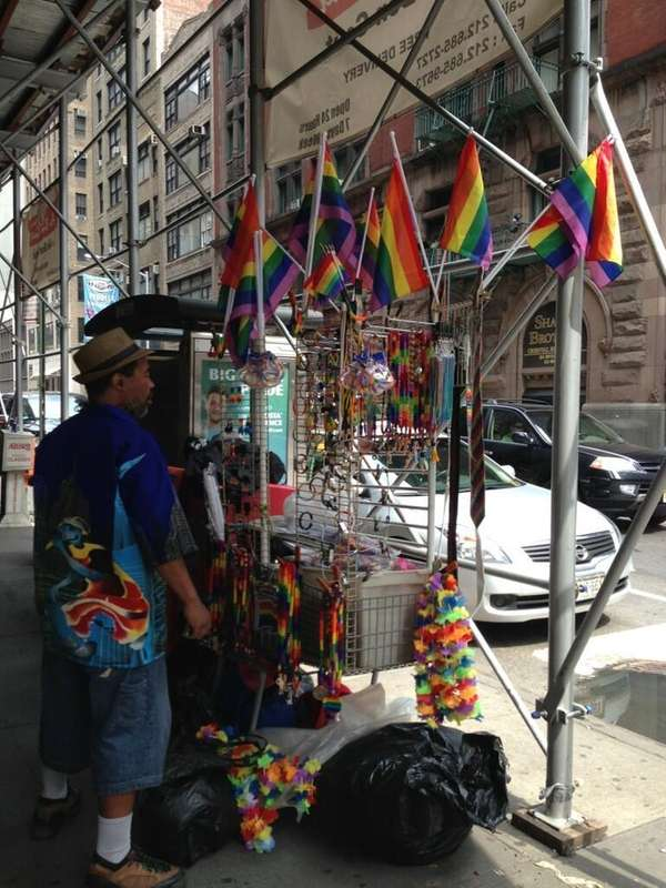 Vendors are out in full force, selling rainbow-colored