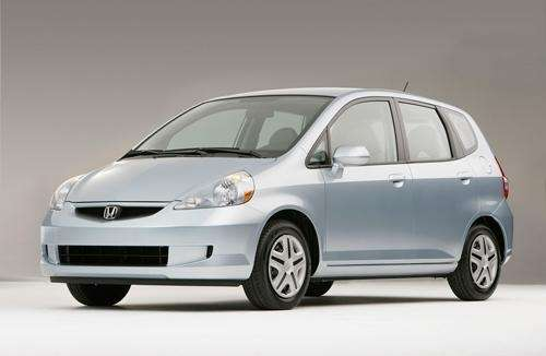 The 2007-2008 Honda Fit hatchback was part of