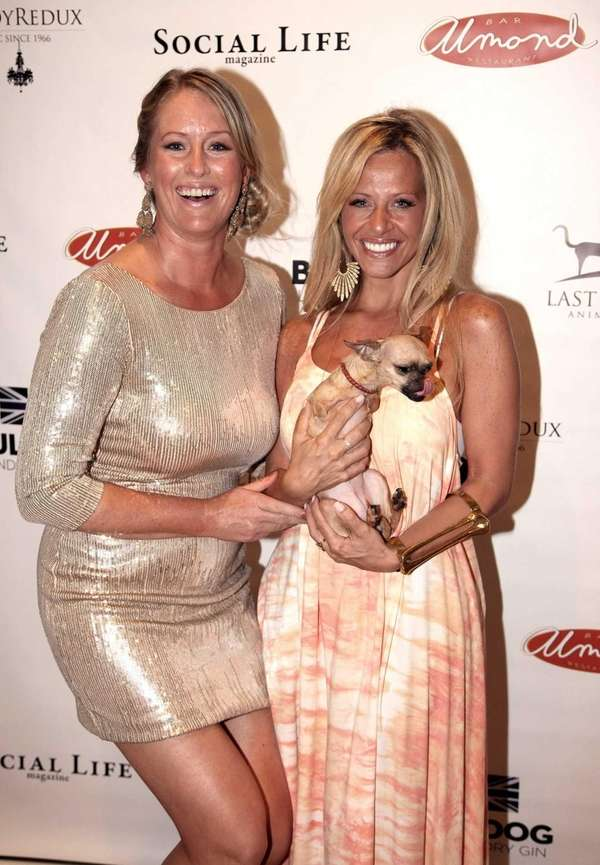 Whitney Knowlton and Dina Manzo, with Manzo's dog