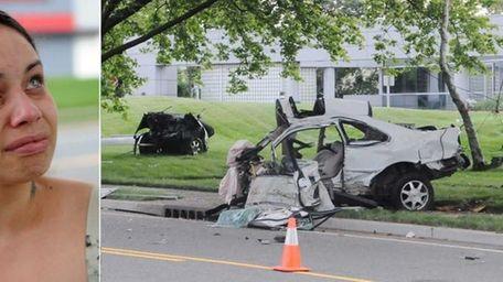 Left, Jennifer Gotay, 25, sister of crash victim