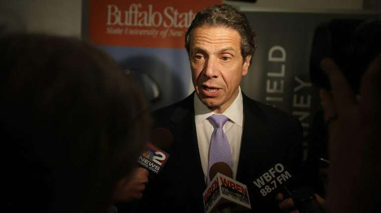 New York State Governor Andrew Cuomo speaks about