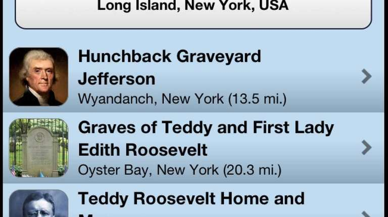 The Roadside Presidents app, available for iOS for