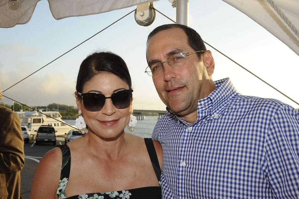 Carolyn Hirsch and Andrew Fox attend the Benefit