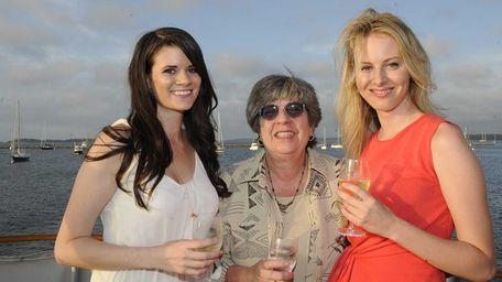 Alexandria Lane, Penny Moser and Alexis DuFresne enjoy