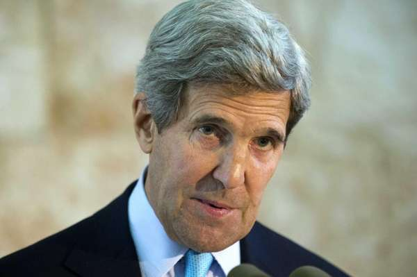 Secretary of State John Kerry speaks about his