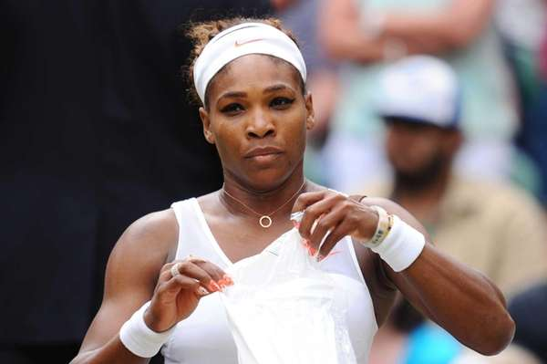Serena Williams of the United States looks dejected