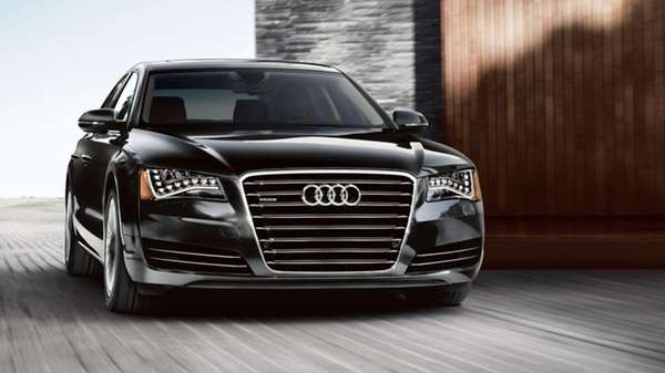 On the highway, the 2014 Audi A8 L