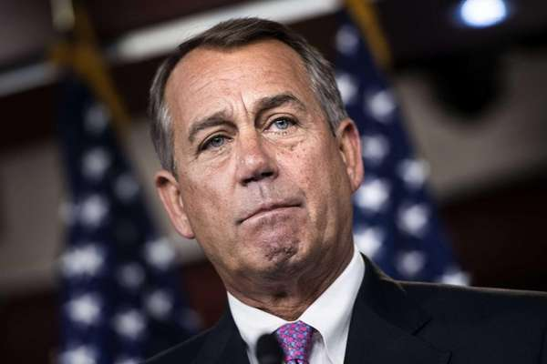 Speaker of the House John Boehner speaks during