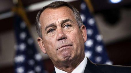Speaker of the House John Boehner speaks during