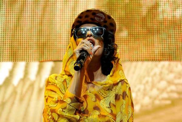 Singer M.I.A. performs at Jim Henson Studios in