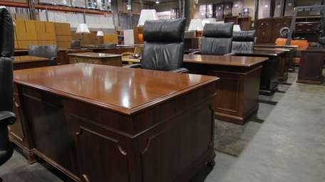 The office furniture from the Manhattan offices of