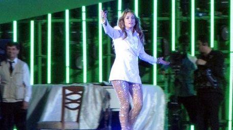 Jennifer Lopez performs at Avaza, near the city