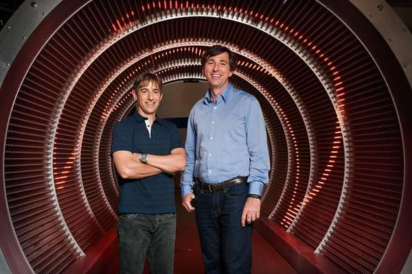 Zynga's new CEO Don Mattrick, right, stands with