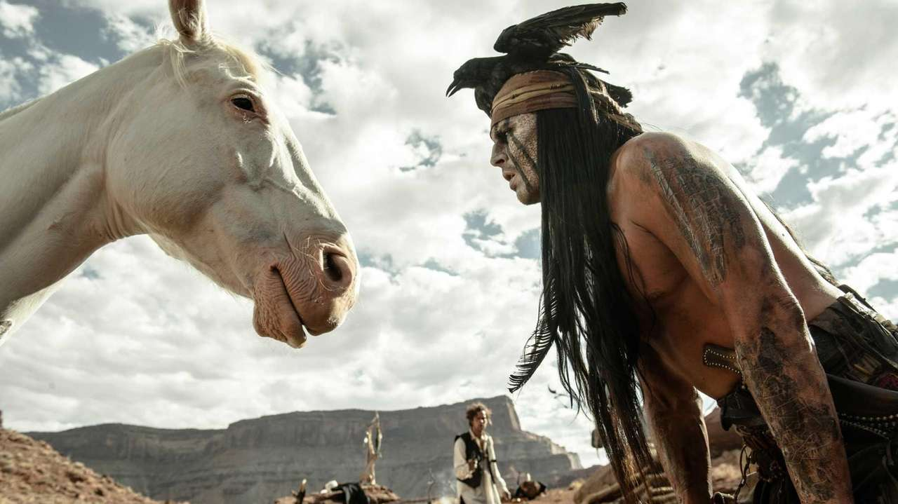 Johnny Depp as Tonto in a scene from