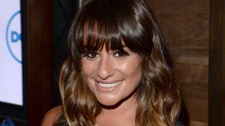 Actress Lea Michele attends an event at Hyde